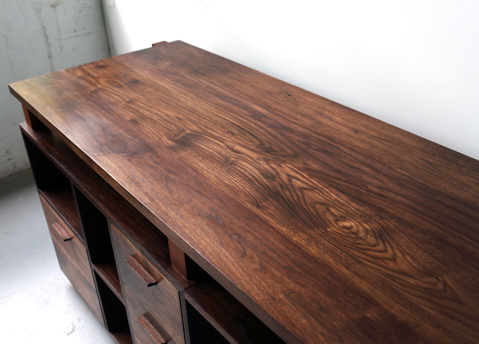 walnut desk this desk was crafted to fit along one wall of an office